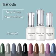 Harunouta Soak Off UV Nail Gel Polish 15ml Grey Dark Color Nail Art Gel Polish Varnish Lacquer Nail Gel Gel Nails mustela gel lavant doux