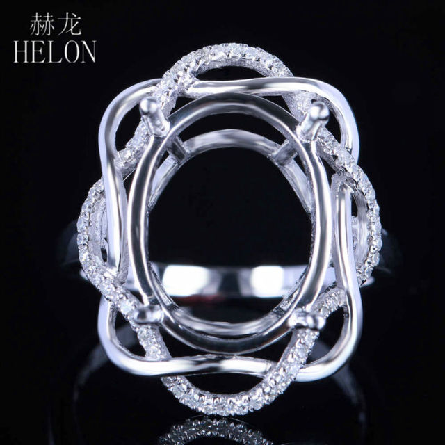 round diamonds side rings semi gold mount ring wedding engagement with white valina