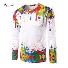 Top fashion 2017 herren t-shirt lange t-shirt homme fitness tops & tees lässige t-shirts camisetas 3d gedruckt marke clothing
