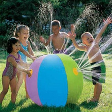 Children Water Ball Outdoor Inflated Toy For Baby Kids Giant Sprinkler Inflatable Beach Ball Family Play Fun(China)