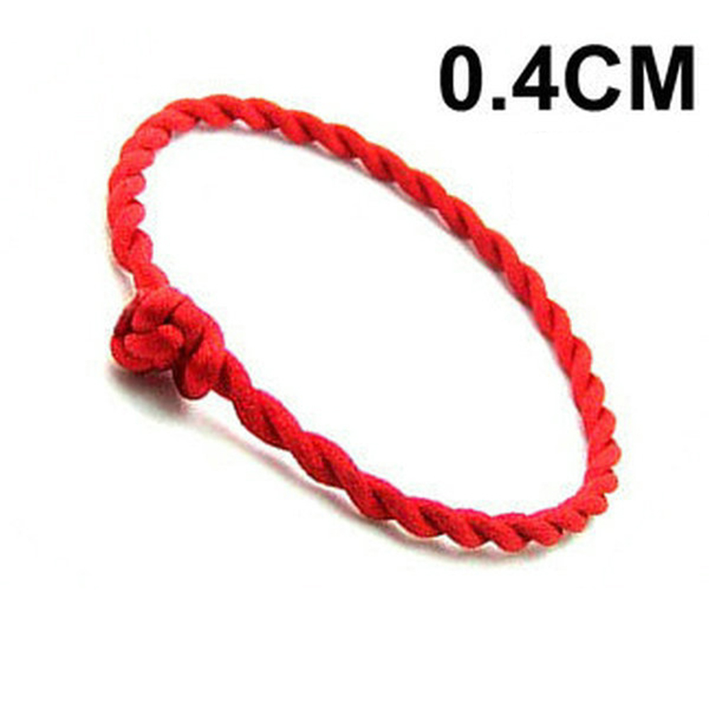 4PCS Fashion Red Thread String Bracelet Lucky Rope Bracelet Handmade Rope Line for Women Men Jewelry Lover Couple Gift