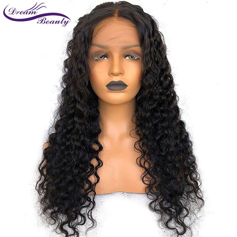 Brazilian Lace Front Human Hair Wigs Pre Plucked French Deep Wave Lace Front Wigs For Women Remy Lace Front Wig Dream Beauty