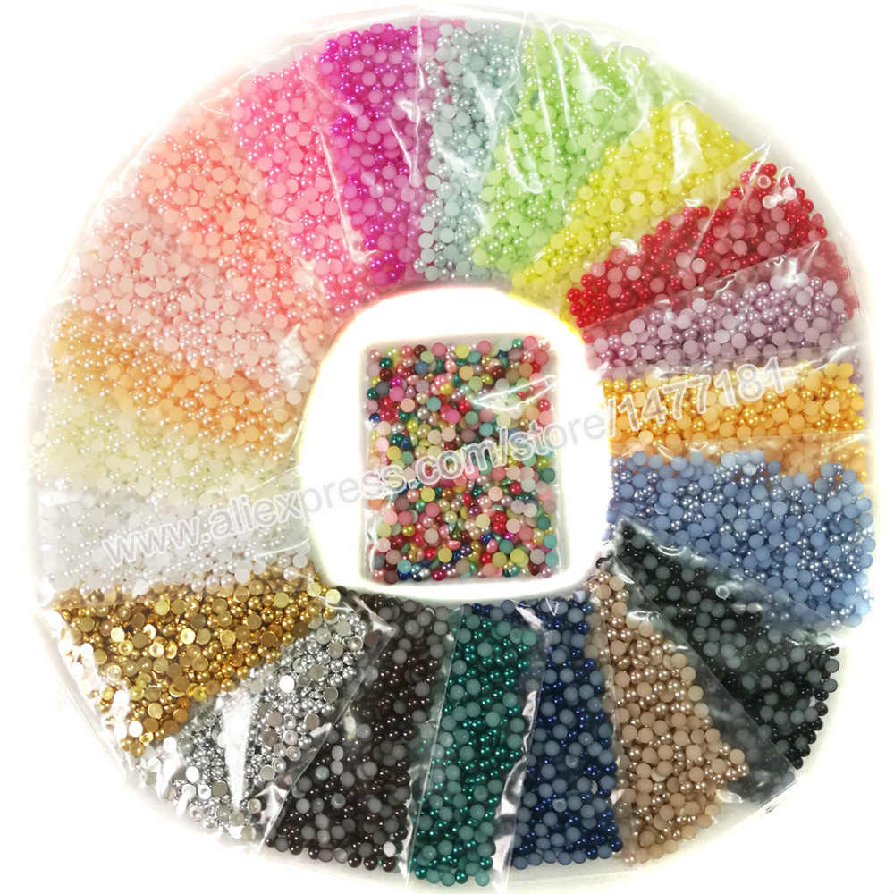 500pcs 5mm Half Round PEARLS Immitation Faux Cabochon Acrylic Beads Pearl Finish Flatback Half Dome Pearl Gems DIY Crafting