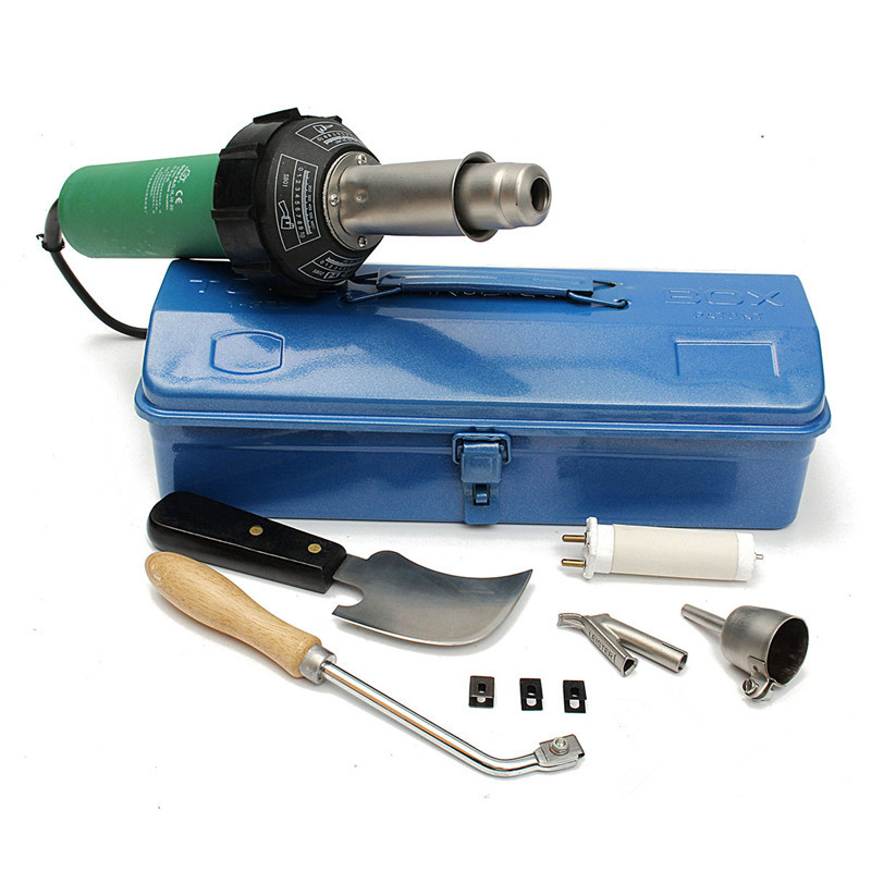 High Quality 110V Or 220V 1500W Handheld Plastic Welders Hot Air Gun +Speed Nozzle Heat Element Hot Air Gun Welding Torch
