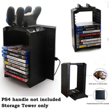 лучшая цена Station For Dualshock PS4 Game Controller Handle Storage Tower Multifunctional Vertical Stand Dual Charger Charging Dock