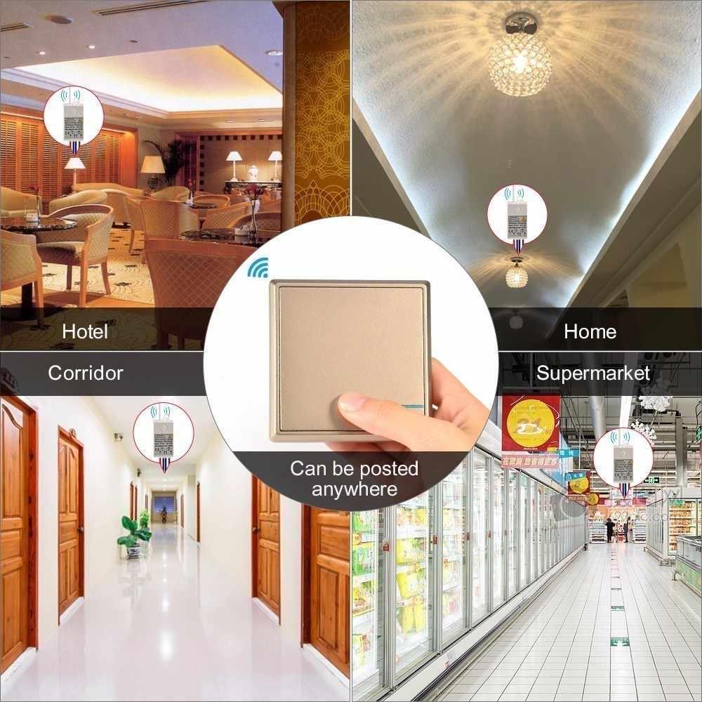 Отсутствие проводки Беспроводной удаленного Управление выключатель света и приемник Kit IP54 водонепроницаемые Переключатели Переключатель лампы потолочные лампы светодиодные лампы
