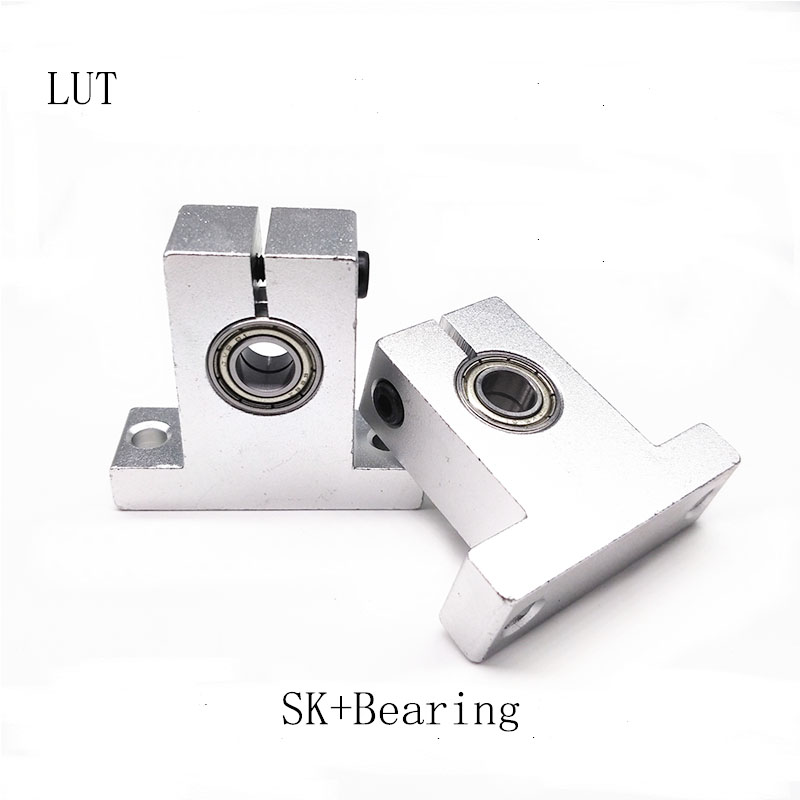 High quality 4 pcs-lot Free Shipping SK10+ bearings linear bearing rail support XYZ Table CNC Router