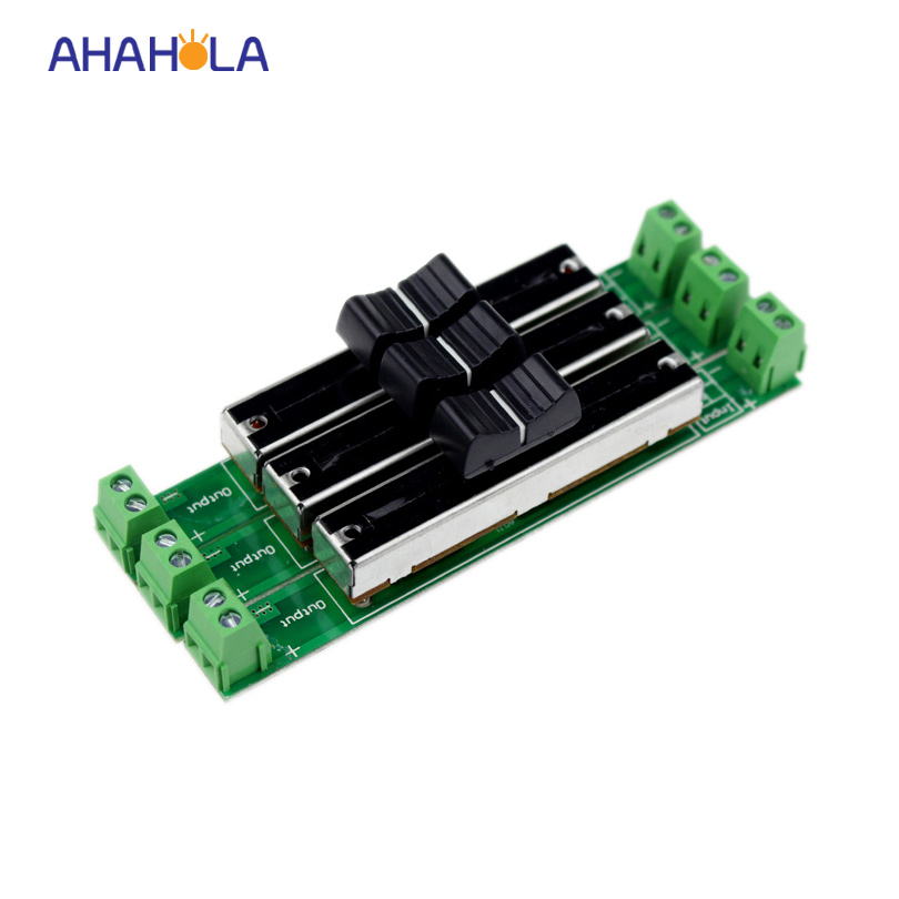 Única cor tira conduzida dimmer 12-24 v interruptor deslizante dimmer 3 canais 4A/channel
