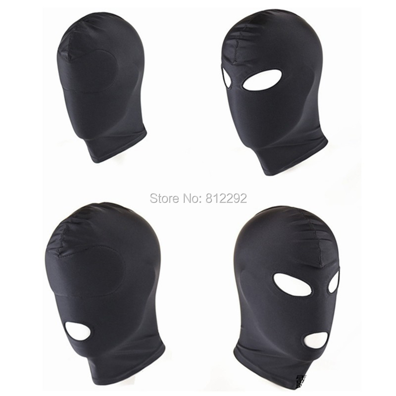 2017 New Arrival Adult games Fetish Hood Mask BDSM Bondage Black Spandex Mask Sex Toys For Couples 4 Specifications To Choose
