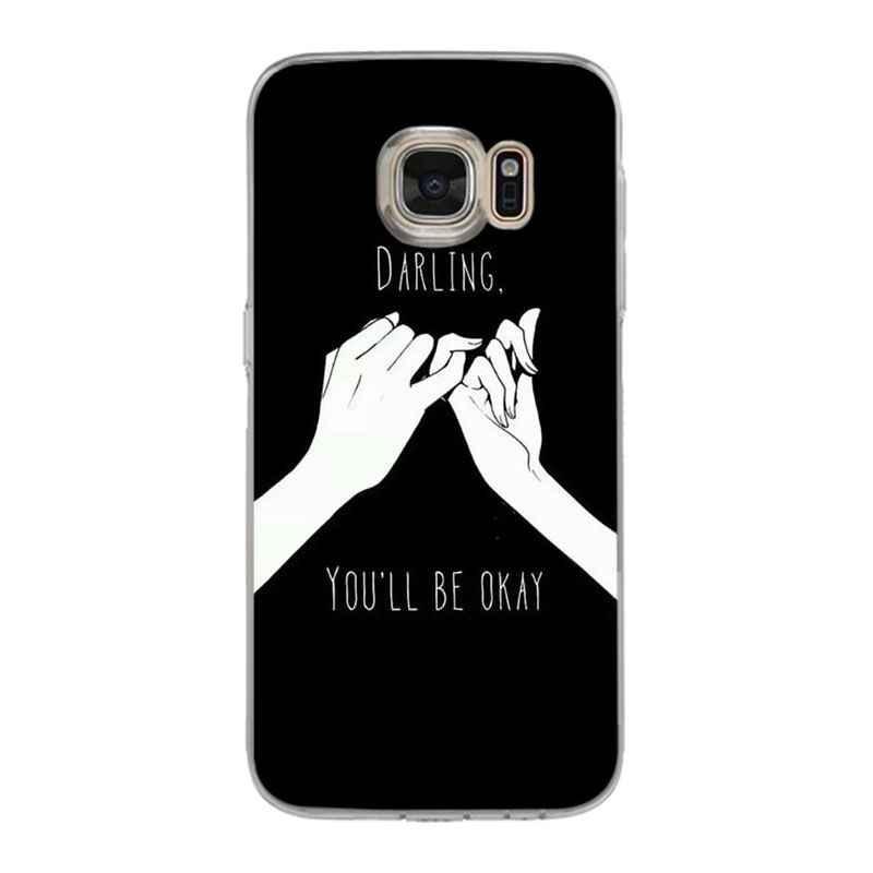 Yinuoda Tình Yêu trên các ngón tay trái tim mềm tpu điện thoại trường hợp bìa cho samsung galaxy S9 S7 S6 cạnh cộng với S5 S9 s8 cộng với trường hợp