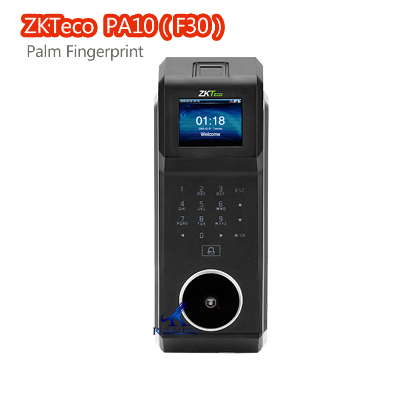 3000Users Biometric Fingerprint ZK F30 Palm Fingerprint Access Control And Time Attendance System With 125KHZ RFID Card Reader zk iface302 fingerprint time attendance with access control tcp ip biometric face fingerprint 125khz rfid card time attendance