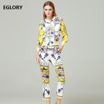 Mujeres Calidad Diseñador Chic De Impresión Ropa Chaqueta Moda Alta dz4CqvC