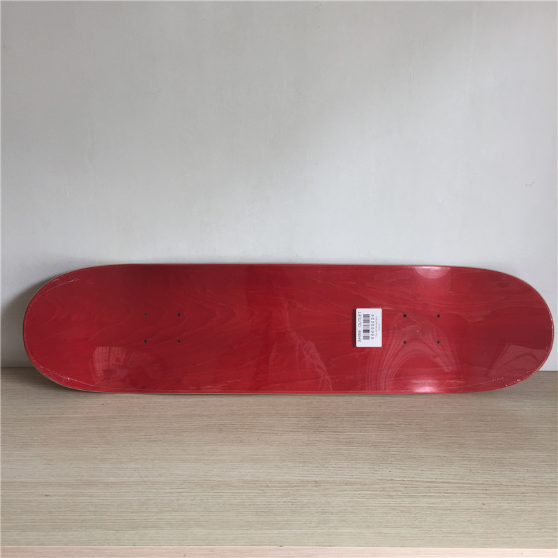 High Quality Professional Canadian Maple Red Colored Blank Skate Board Deck 8.1 Inch Nologo Shape Skate for DIY Skateboard