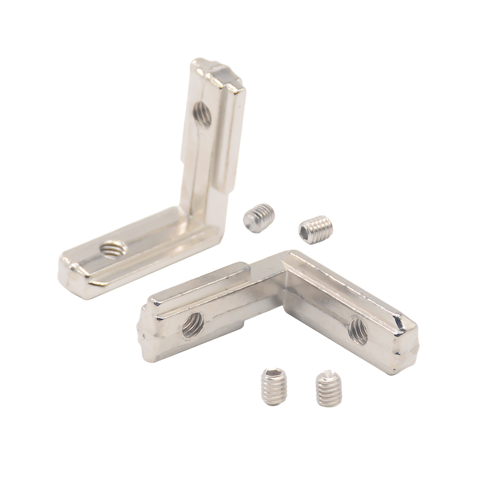 Hotsale T Slot L Type 90 Degree 2020 Aluminum Connector Bracket Fastener EU Standard 20/30/40/45 Series Aluminum Profile Parts