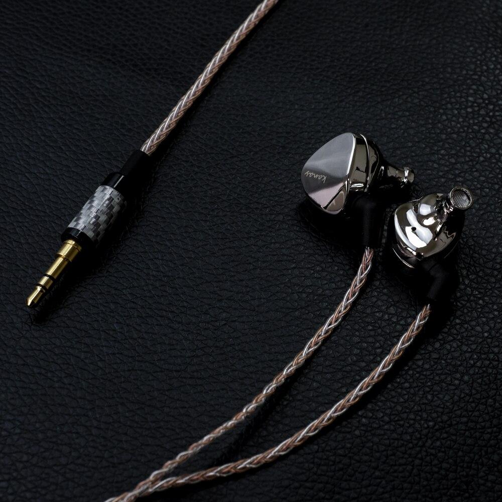 Date Mode Moondrop Kanas Pro Diamant de Zinc Alliage De Magnésium Dynamique HIFI Dans L'oreille Écouteurs HIFI Moniteur Écouteurs EarplugEarbud