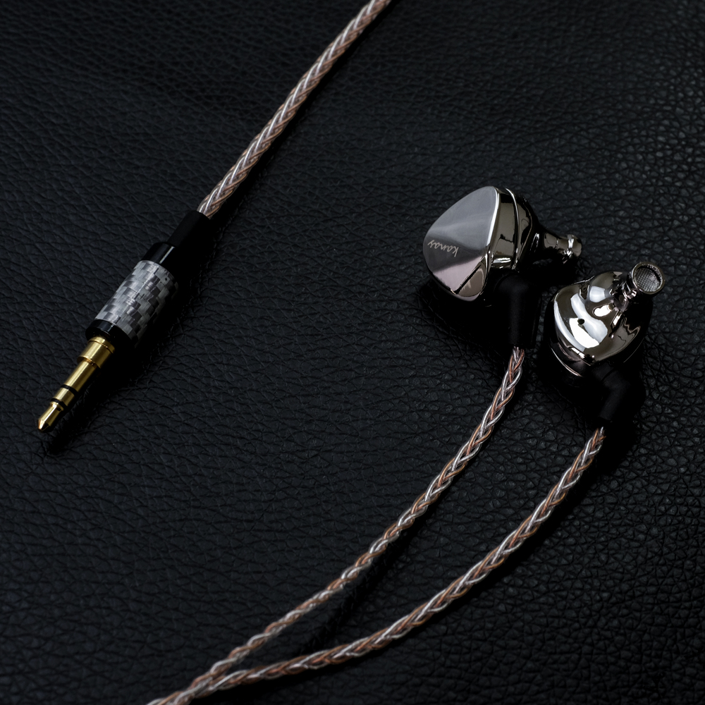 Newest Fashion Moondrop Kanas Pro Diamond Zinc Magnesium Alloy Dynamic HIFI In Ear Earphone HIFI Monitor Earphones EarplugEarbud