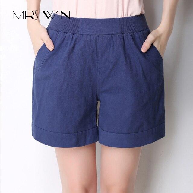 ae1eb1216e La sra. victoria 2017 Nueva Moda de verano shorts mujeres 100% pantalones  cortos de