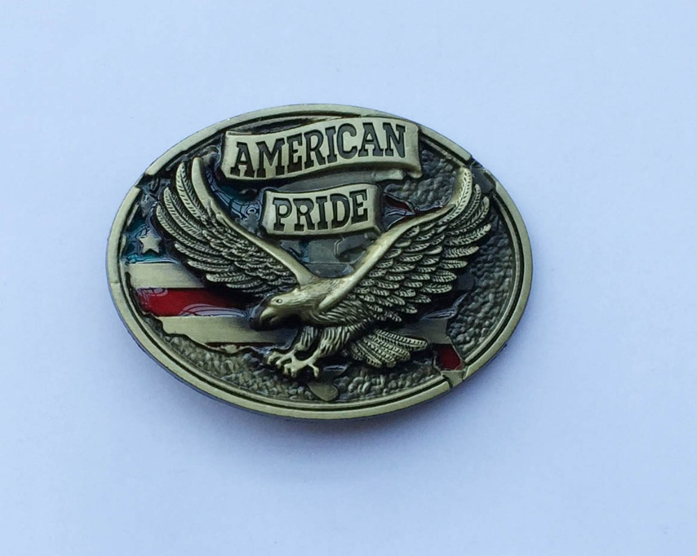 American Pride Eagle USA Flag Belt Buckle JF-BY20184 suitable for 4cm wideth belt with continous stock