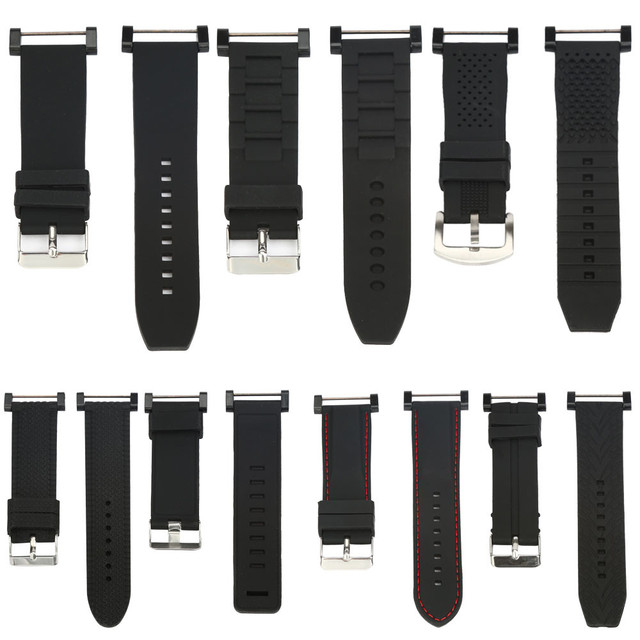 Luxury Watchband rubber Replacement Watch Wrist Band 3 Ring Lugs For Suunto Core drop shipping watch accessories watchbands #m
