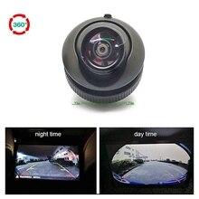 180 Gradi Super Wide Angle Fisheye Camera Car Anteriore e Lato e Videocamera vista posteriore di Visione Notturna di HD rotazione di 360 telecamera di parcheggio