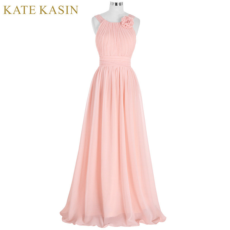 Tienda Online Kate kasin largo Vestidos de dama de honor rojo plata ...