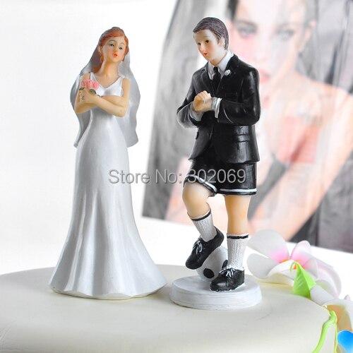 Soccer Player Groom & Exasperated Bride Wedding Cake Topper Custom ...