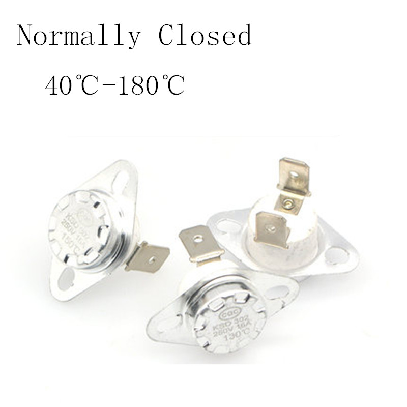 5pcs 10A 250V KSD301 85°C Thermostat Temperature Thermal Control Switc Jy