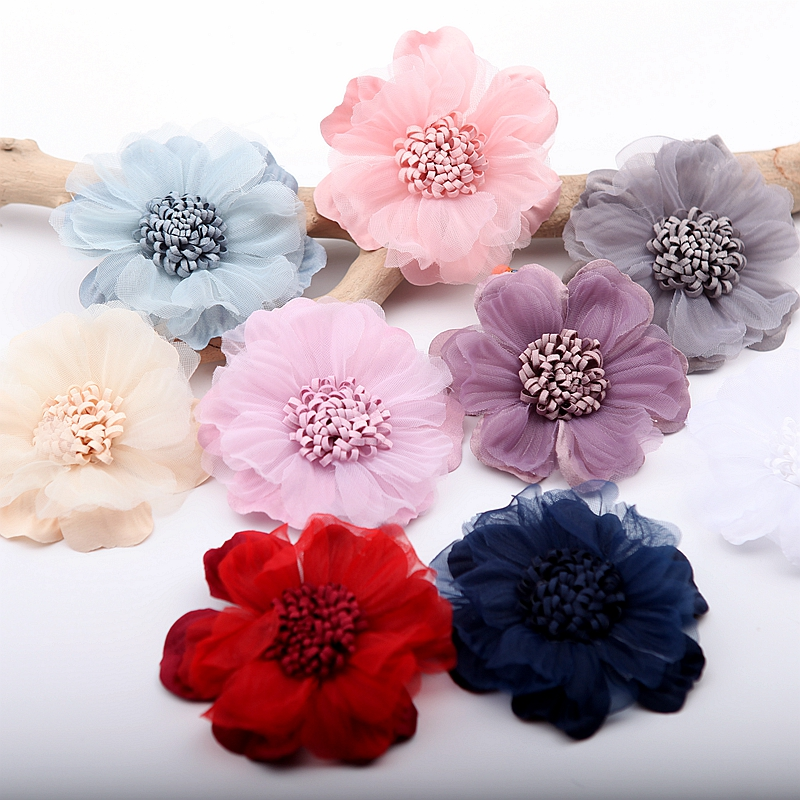 Fabric Haberdashery Trimmings Floral Fusible Sew On Flower Trim Cord 29 Colours
