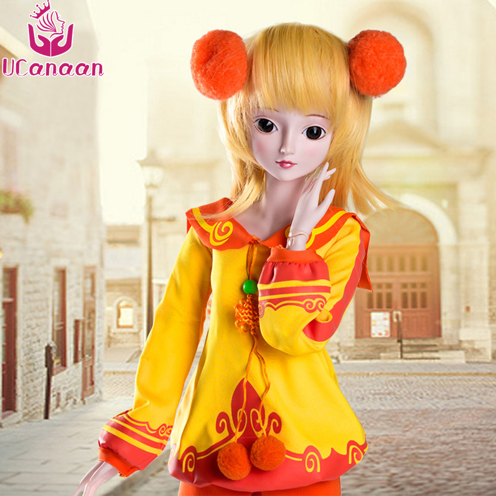 UCanan 1/3 Large BJD/SD Doll Bright Fairy 19 Joints Are Rotated Offer Make Up Soft  Grils Dolls For Birthday Gift uncle 1 3 1 4 1 6 doll accessories for bjd sd bjd eyelashes for doll 1 pair tx 03