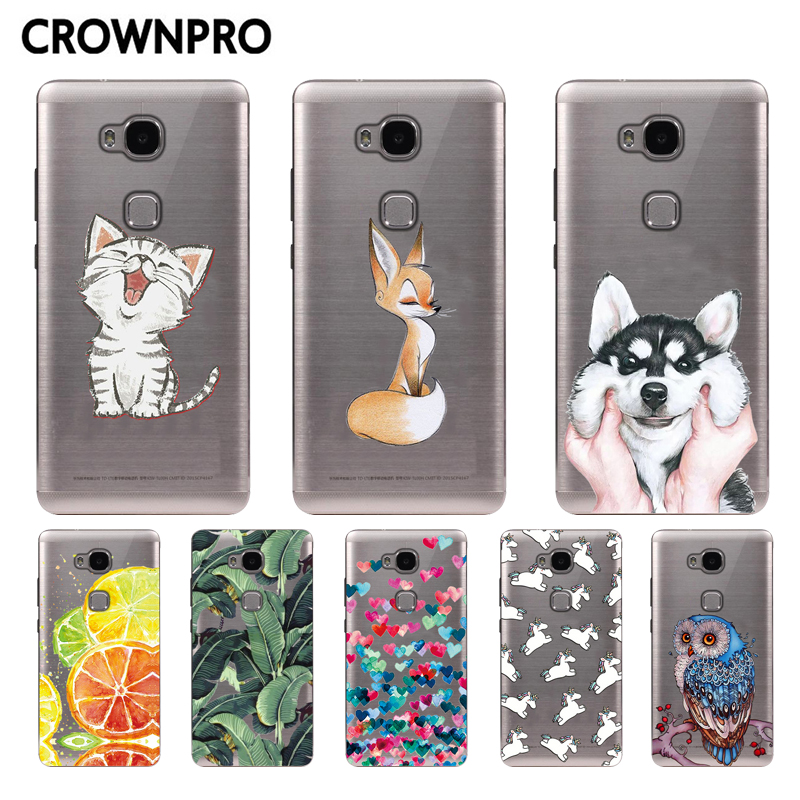 For Huawei Honor 5x Case Cover Cute For Honor 5x TPU Phone Back Cover 5.5