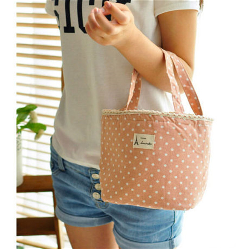 FD5141 new Elegant Thermal Insulated Lunch Box Cooler Bag Tote Bento Pouch Bags