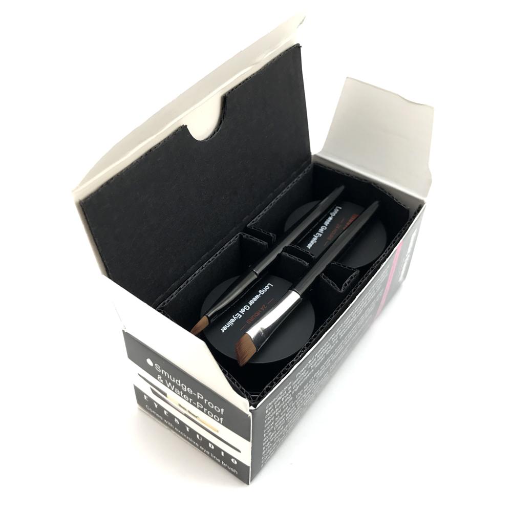2 in 1 brown + black gel eyeliner make up free shipping waterproof freeshipping cosmetics set eye liner makeup eye 11