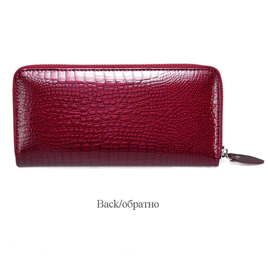 VICKAWEB Wristlet Wallet Purse Genuine Leather Wallet Female Long Zipper Women Wallets Card Holder Clutch Ladies Wallets AE38-014