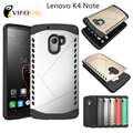 Para lenovo k4 note caso tpu + pc híbrido silicon escudo capa protetora para lenovo a7010 telefone móvel + frete grátis