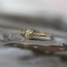 ROMAD Cute Women's Snowflake Rings
