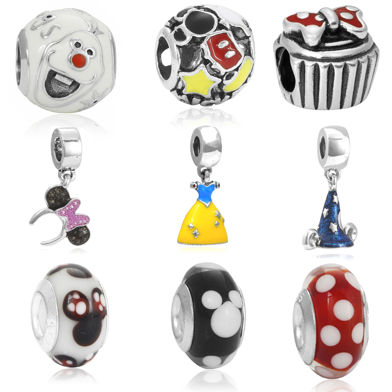 High Quality Enamel Olaf Snowman Charm Beads Fits Pandora ...