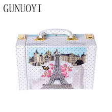 GUNUOYI New Cosmetic Case Travel Makeup Case Jewelry Case Portable Bracelet Necklace Box Jewelry Box Girl Gifts Model 666