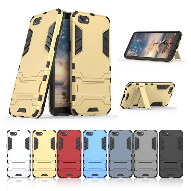 official photos 50e27 d58af US $2.99  YUANLONG Phone Case For OPPO A83 Shockproof Armor Robot Silicon  Hard Stand Shell Skin Case Cover-in Fitted Cases from Cellphones & ...