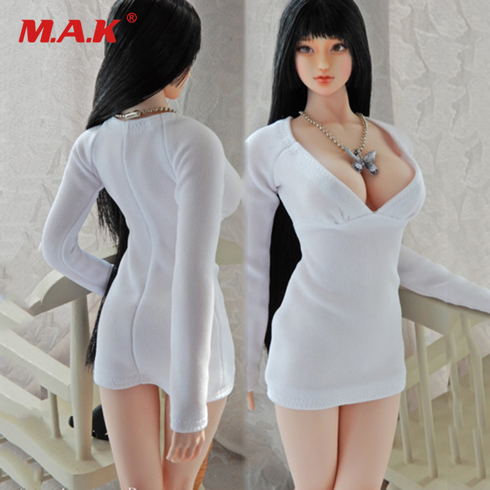"Custom 1:6 Figure Black Dress For 12/"" JIAOUDOL Female Big Bust Seamless Body"