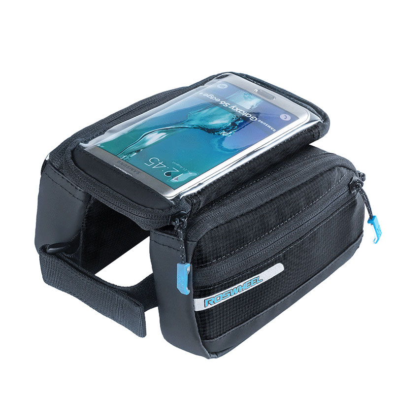 Cycling Bag Bicycle Phone Bag 5.5 inch Large Touch Screen MTB Road Bike Cycling Top Frame Tube Basket Bicycle ROSWHEEL