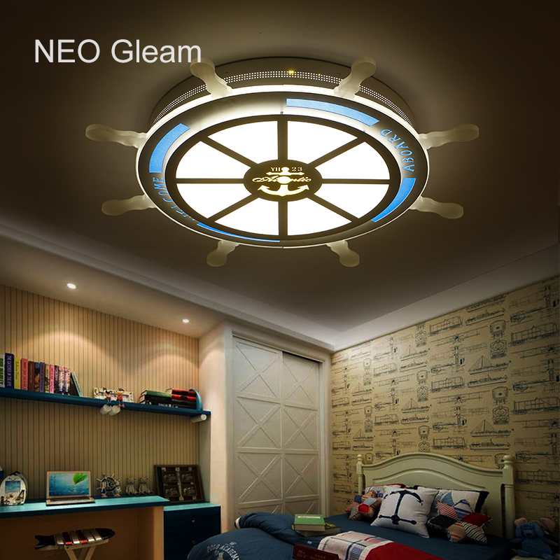 NEO Gleam Children Pirate Dreaming Modern Led Ceiling Lights For Children Room AC85-265V Room Deco Ceiling Lamp iluminacion noosion modern led ceiling lamp for bedroom room black and white color with crystal plafon techo iluminacion lustre de plafond