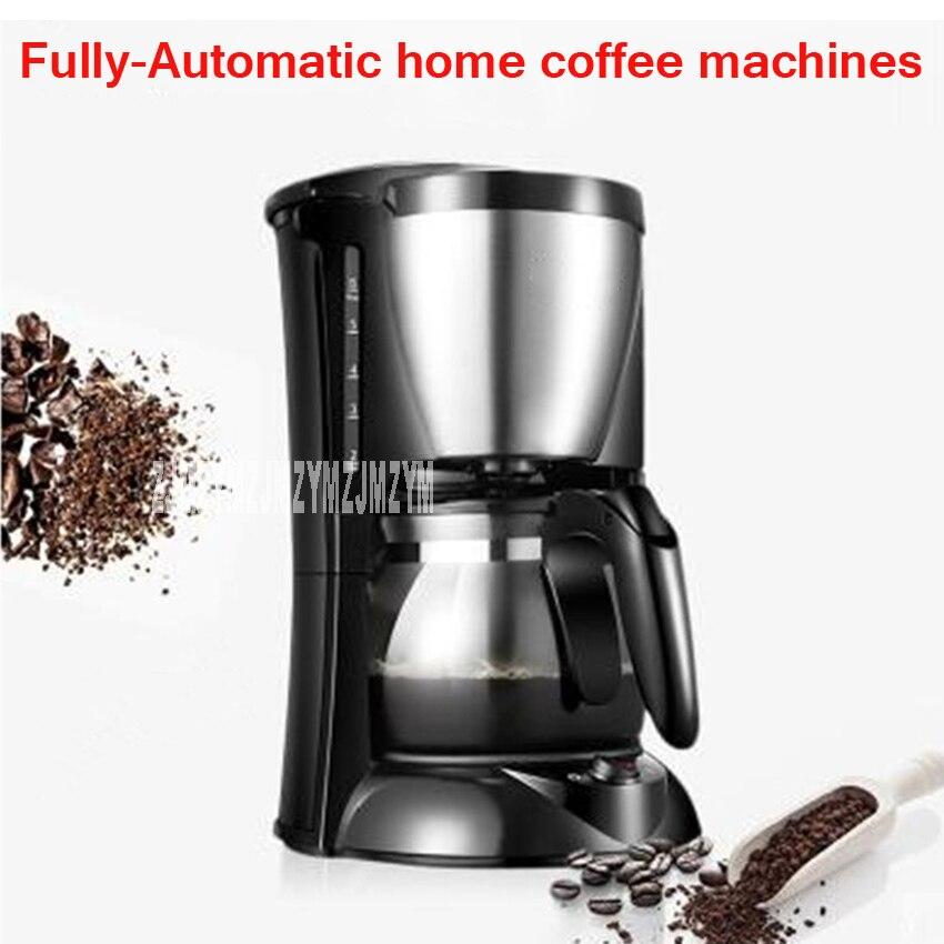 где купить 220V/600W Fully-Automatic American coffee machine home automatic mini coffee pot small commercial drip boiled tea one pot по лучшей цене