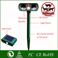 1pcs 2016 Green Garden Cat Dog Pest Repeller Solar Power Ultra Sonic Scarer Frighten Animal Repellent