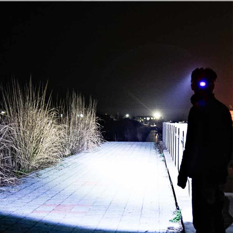 Yeni T6 led far zumlanabilir ayarlanabilir kafa lambası el feneri 6000lm 18650 pil ön ışık Şarj zumlanabilir kamp koşu için