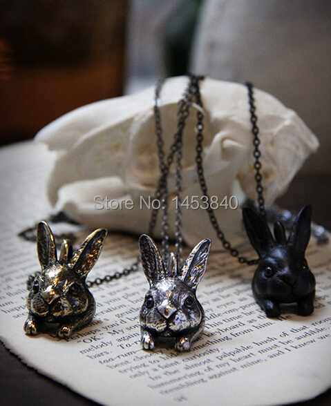 Rabbit Pendant Necklace Retro Hare