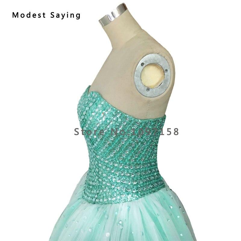 Elegante Mint Green Ballkleid Schatz Perlen Abendkleid 2017 Formal ...