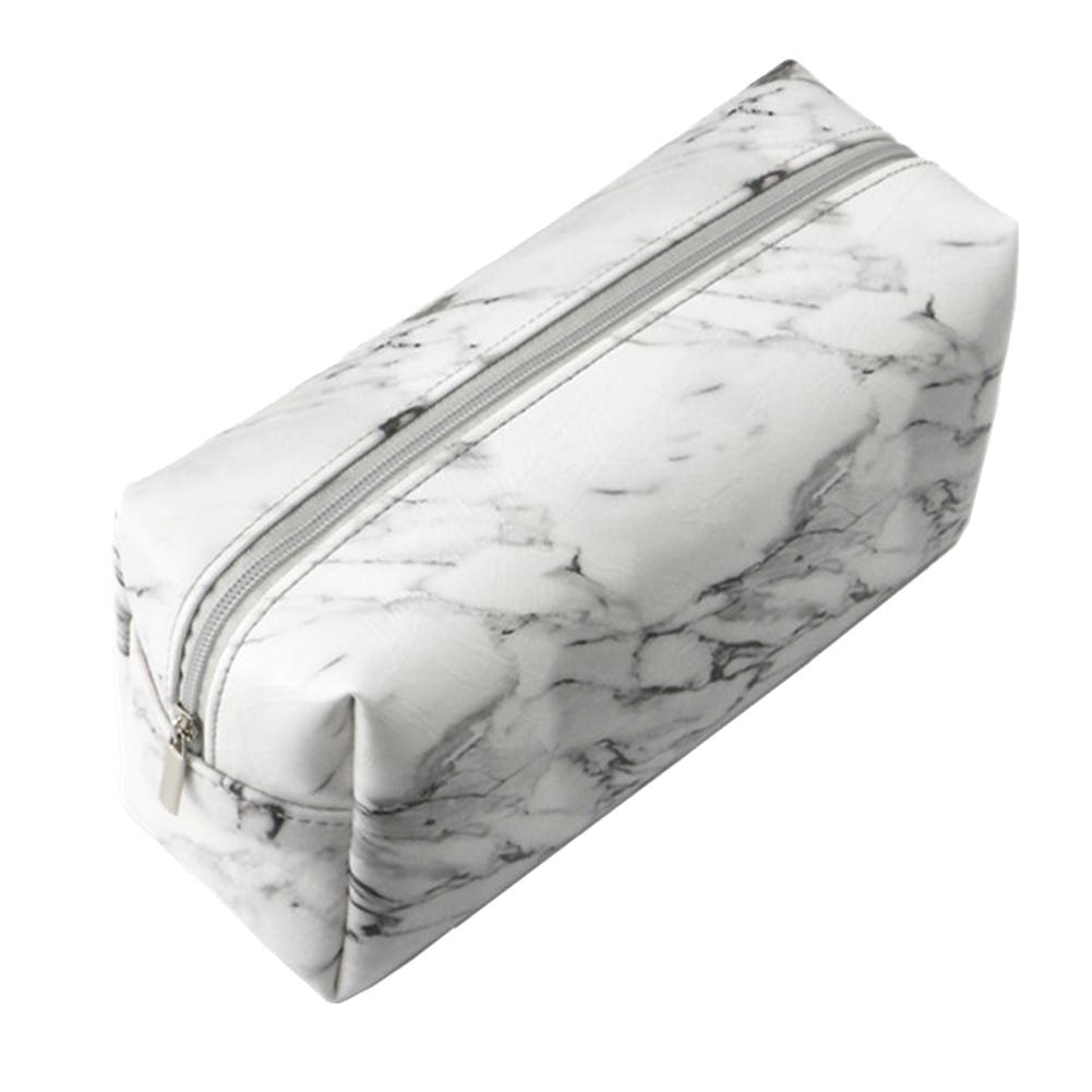Purse Cosmetic-Bag Stationery Toiletry Marble Large-Capacity Women Travel Portable Student