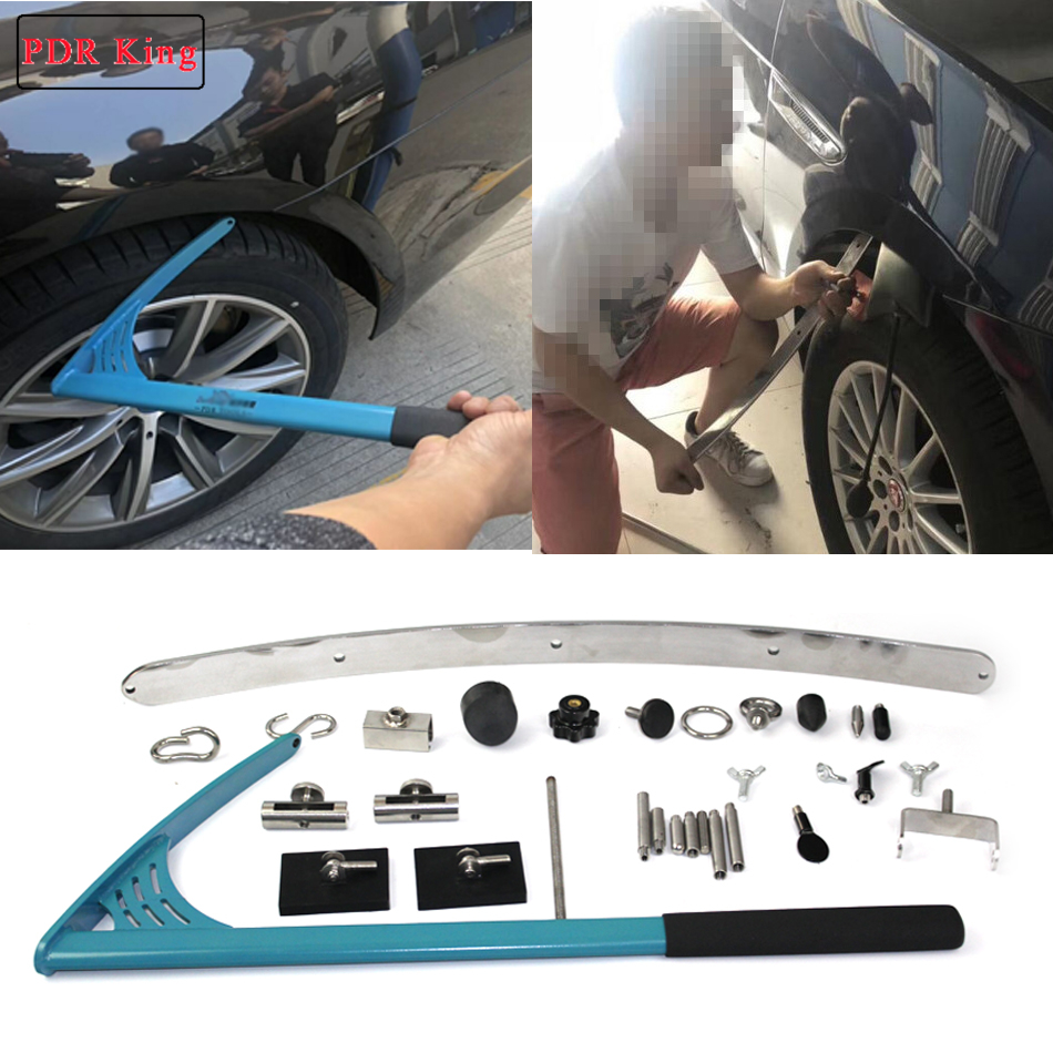Flat PDR hook tools paintless dent repair kit flat steel bar bridge puller