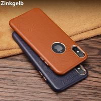 For Apple IPhone X Cover Case Luxury Cute Soft Genuine Leather Ultra Thin Shockproof Phone Case