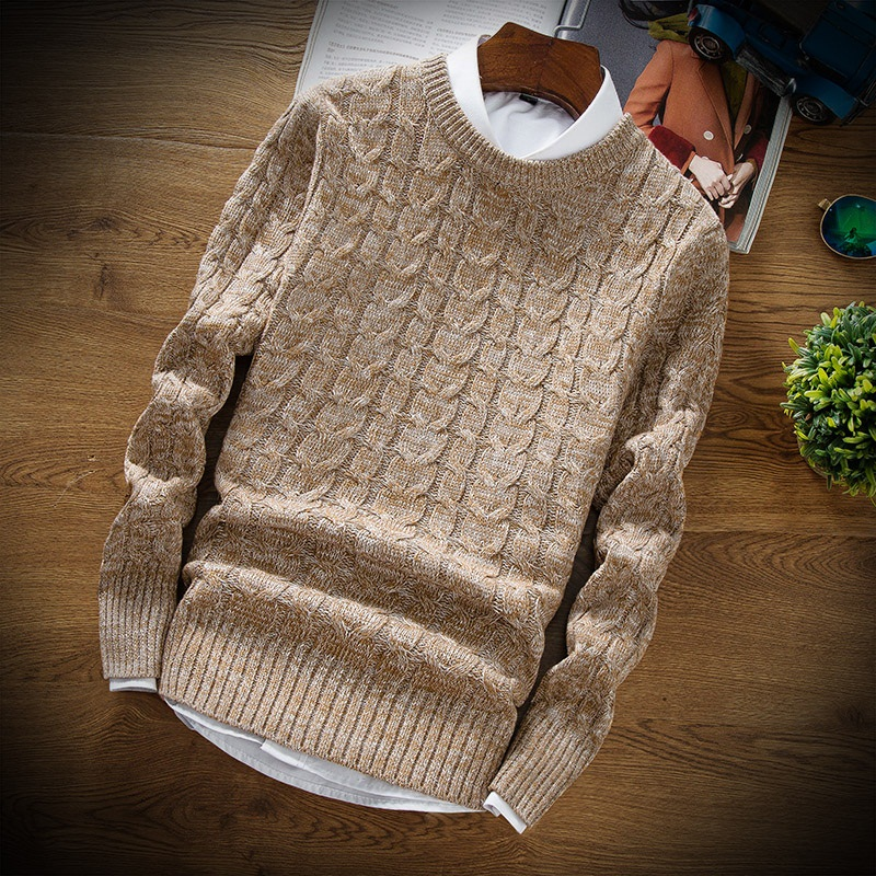 New Fashion Men 'S Christmas Sweater Thick Warm Men 'S Pullover Sweaters Man 'S Knitwear Slim Fit Pull Homme